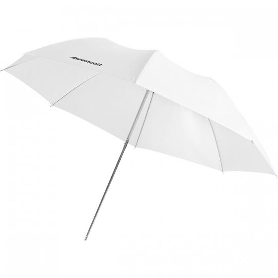 "WESTCOTT 43"" Optical White Satin Collapsible Umbrella"