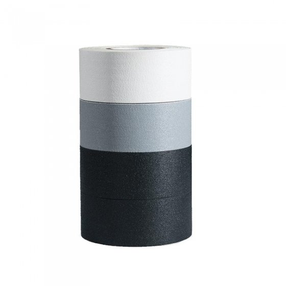 """VISUAL DEPARTURES Micro Gaffer Tape 4 roll 1"""" x 8yds black, grey, white"""