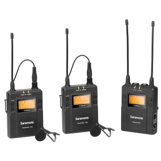 SARAMONIC UwMic9 UHF Dual Mic Wireless Lavalier Kit
