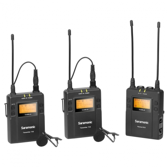 SARAMONIC UwMic9 UHF Dual Mic Wireless Lavalier Kit   #RENEWED