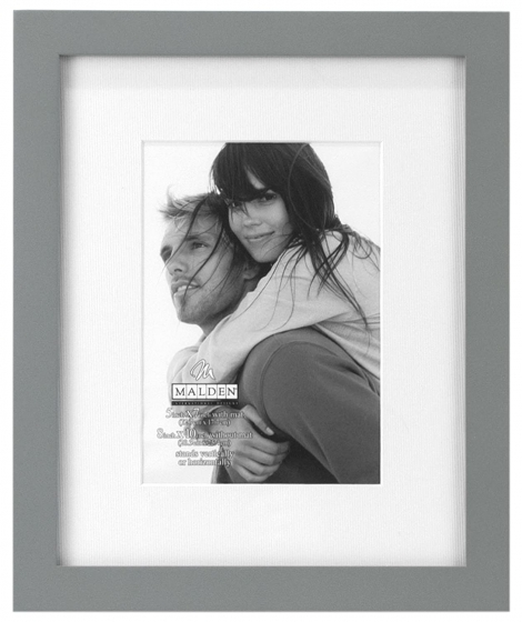 """MALDEN Linear Matted Gray Frame 8""""X10"""" with 5""""X7"""" Opening"""