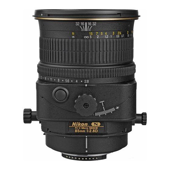 NIKON 85mm f/2.8 PCE Lens Tilt Shift Lens