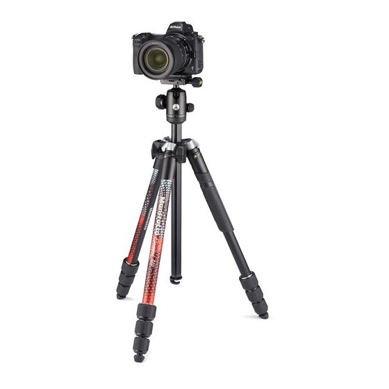 MANFROTTO Element MII 4-Section BH Aluminum Tripod Red