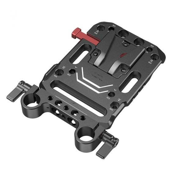 SMALLRIG V Mount Battery Plate with Dual 15mm Rod Clamp