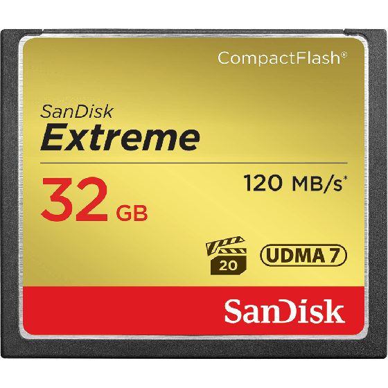 SANDISK 32gb Extreme CF Read 120mbps   Write 60mbps  UDMA7