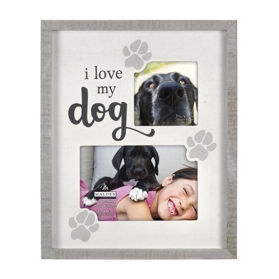 "MALDEN ""I Love My Dog"" 2-Opening Collage Frame"