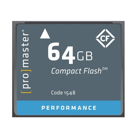 ProMaster 64gb compact flash card Performance series             500x