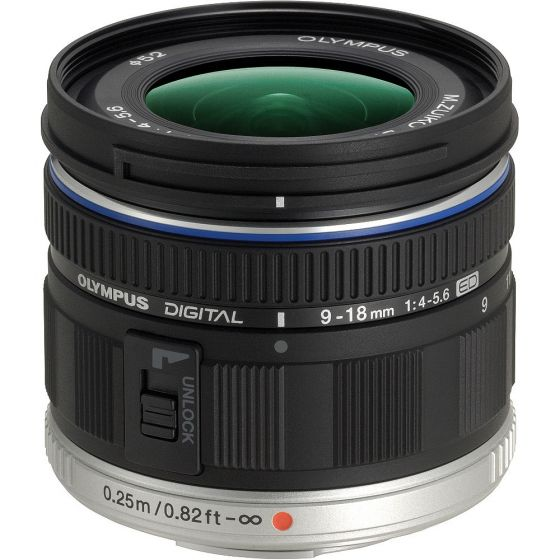 OLYMPUS ED 9-18mm f4-5.6 Black lens for micro 4/3