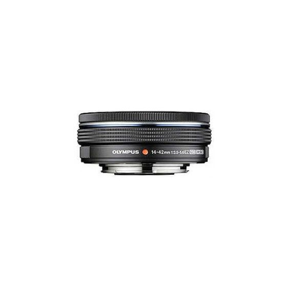 OLYMPUS ED 14-42mm f3.5-5.6 EZ Lens Black with power zoom for micro 4/3