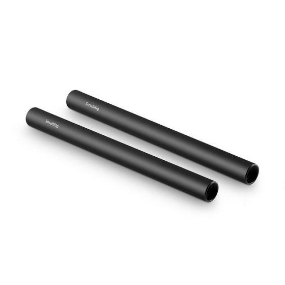 """SMALLRIG 15mm Black AL Alloy Rod (M12-20cm) 8"""" (2 pcs) SR_1051"""