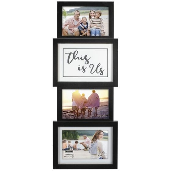 """MALDEN """"This is Us"""" 4-Opening Frame 4""""x6"""" / 5""""x7"""" Vertical Collage"""