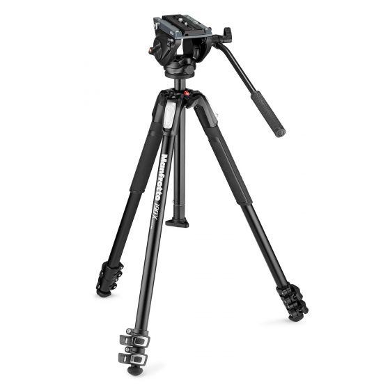 MANFROTTO Photo Video Hybrid Kit 500 head + 190 Aluminum Tripod