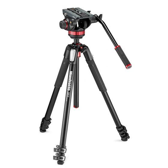 MANFROTTO Photo Video Hybrid Kit 502 head + 055 Aluminum Tripod