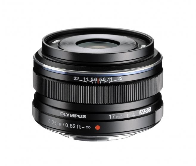 OLYMPUS 17mm f1.8 Lens for micro 4/3 Black