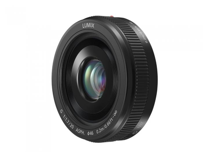 PANASONIC 20mm f1.7 ' pancake ' Lens Black                micro 4/3