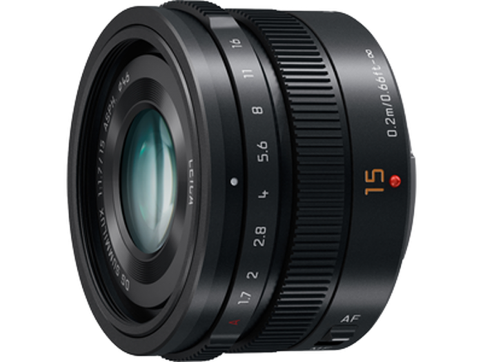 PANASONIC 15mm f1.7 Black Summilux Lens by Leica micro 4/3