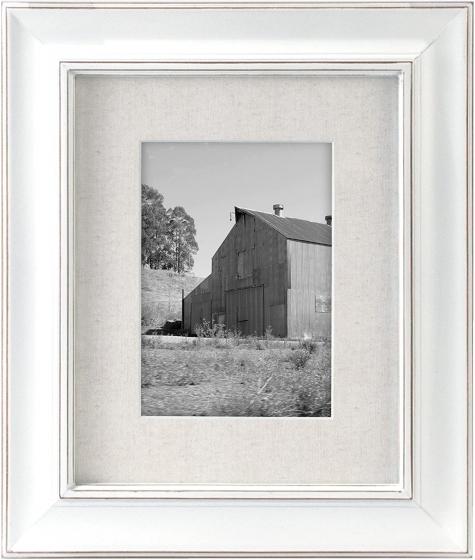 "MALDEN Classic Barnside White Frame with Mat 5""x7"" / 8""x10"""