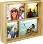 "MALDEN Fashion Woods 4-Opening Wood Collage Frame (2 4""x6"" + 2 4""x4"")"