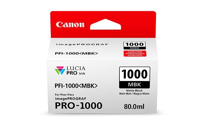 CANON PFI1000MBK Matte Black Ink Tank for PRO1000 Printer