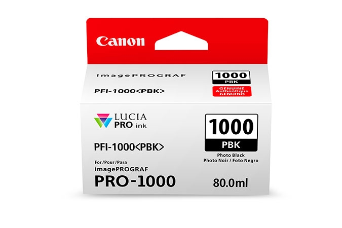 CANON PFI1000PBK Photo Black Ink Tank for PRO1000 Printer