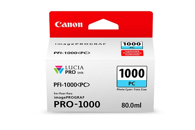 CANON PFI1000PC Photo Cyan Ink Tank for PRO1000 Printer