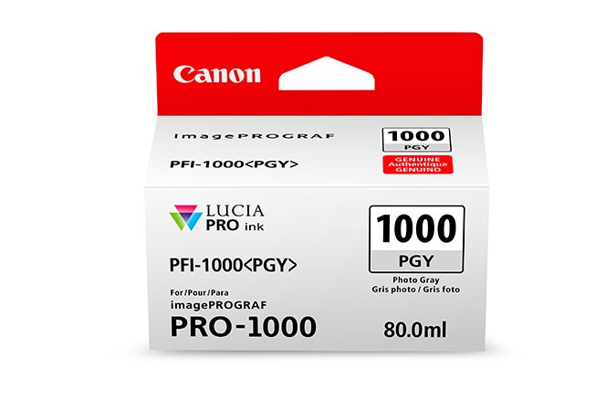 CANON PFI1000PGY Photo Grey Ink Tank for PRO1000 Printer