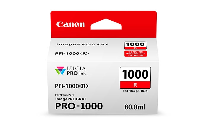 CANON PFI1000 Red Ink Tank for PRO1000 Printer