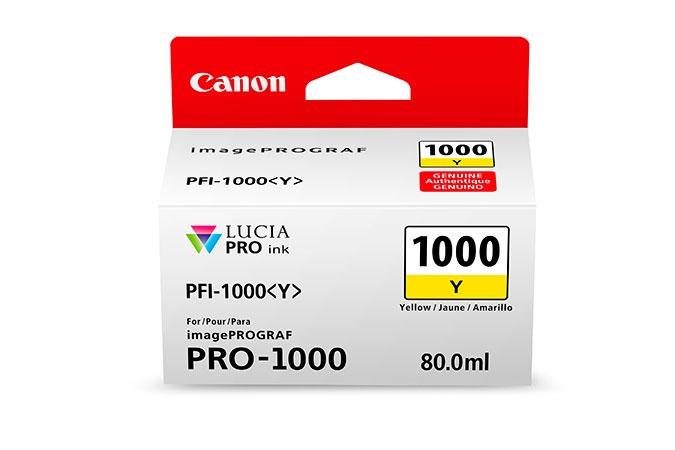 CANON PFI1000Y Yellow Ink Tank for PRO1000 Printer