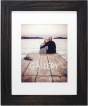 """MALDEN Distressed Black Matted Wood 11""""X14"""" Frame w/ 8""""X10"""" Opening"""