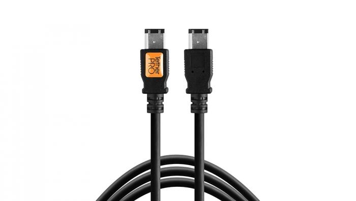 TETHERTOOLS TetherPro FireWire 400 6 pin - 6 pin 15' black cable