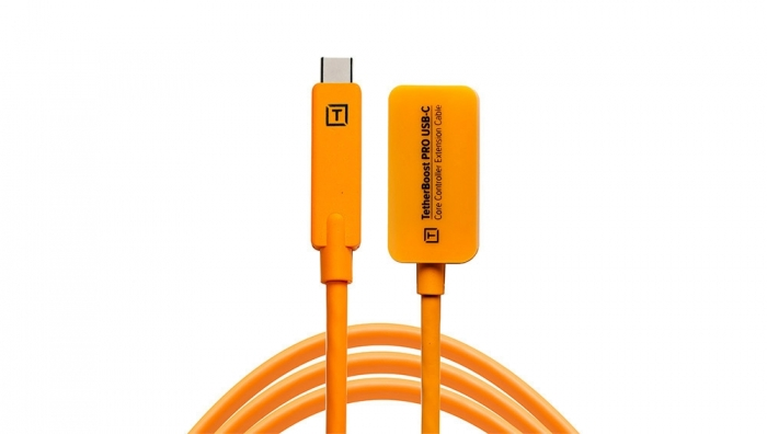 TetherBoost Pro USB-C Core Controller Extension Cable - Orange