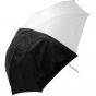 "WESTCOTT 43"" White Satin Collapsible Umbrella w/ Cover"
