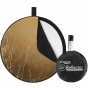 """WESTCOTT Collapsible 5-in-1 Reflector with Gold Surface (20"""")"""