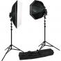 WESTCOTT Rapid Box 2 Light Speedlight Kit w/ strip and beauty