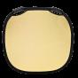 "PROFOTO Collapsible Fabric Reflector Medium Gold / White 32"""