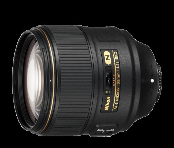 NIKON 105mm f/1.4 E ED AFS Nikkor Lens