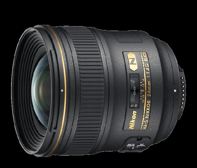 NIKON 24mm f 1.4 G ED AFS lens