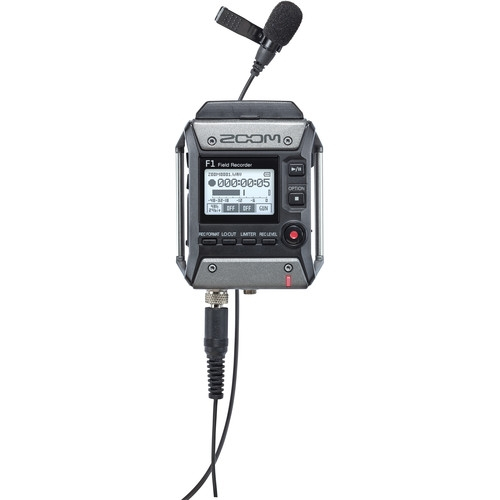 ZOOM Zoom F1 Field Recorder with Lavalier Microphone