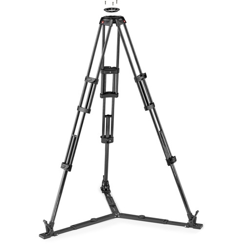 MANFROTTO Carbon Fiber Twin Leg Video Tripod with Ground Spreader