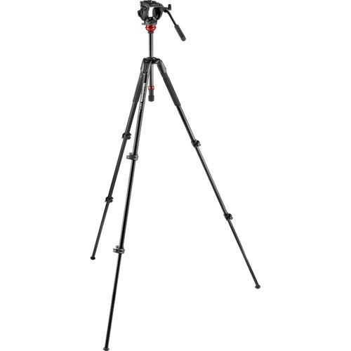 MANFROTTO MVH500AH + 190X Aluminum Video Tripod Kit   MVK500190XV