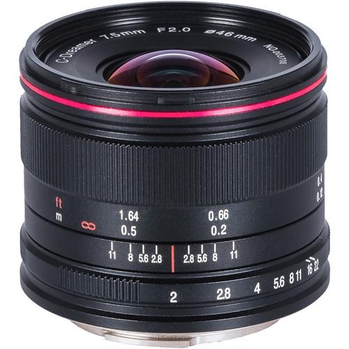 LAOWA 7.5mm f/2 MFT Lens for Micro Four Thirds Lightweight  (Black)
