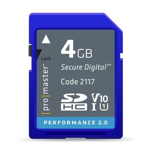 ProMaster SDHC 4gb memory card Performance 2.0 Series UHS-1  V10