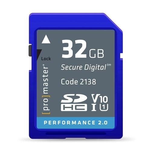 ProMaster SDHC 32gb Memory Card Performance 2.0 Series UHS-1  V10