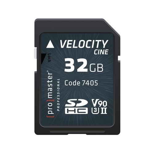 ProMaster SDHC 32gb memory card Velocity CINE 4K U3II v90 2000x