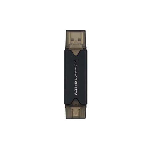 ProMaster Trifecta Card Reader USB-A&C 3.0, Micro-B 2.0, SD/Micro