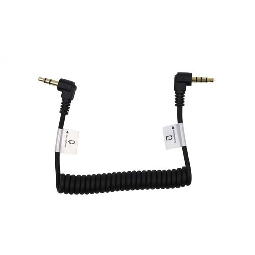 """ProMaster AudioCable 3.5mm TRRS M R Angle-3.5mm TRS Male R Angle 8.5""""C"""