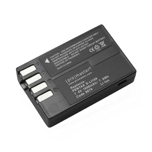 ProMaster DLi109 battery    Pentax