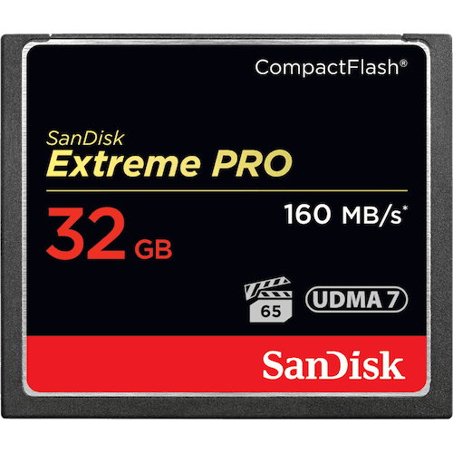 SANDISK 32gb Extreme Pro CF Read 160mbps   Write 150mbps