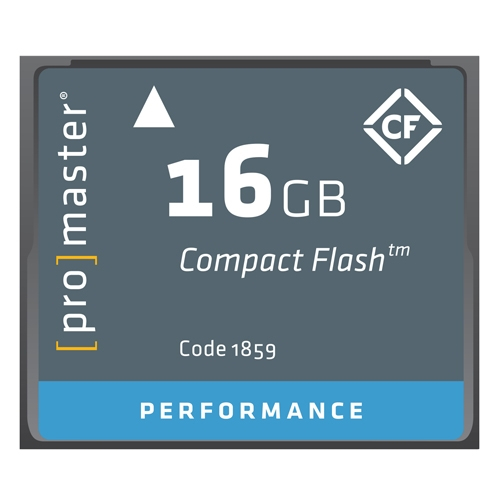 ProMaster 16gb compact flash card Performance series   500x