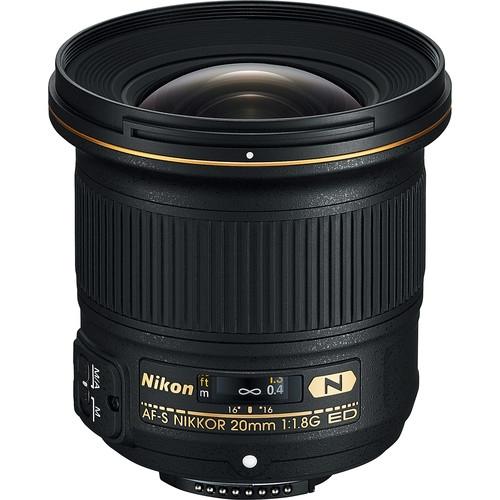 NIKON 20mm f1.8 AFS G ED Lens Nano Crystal Coat